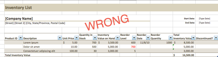 Bad Title Centering Excel