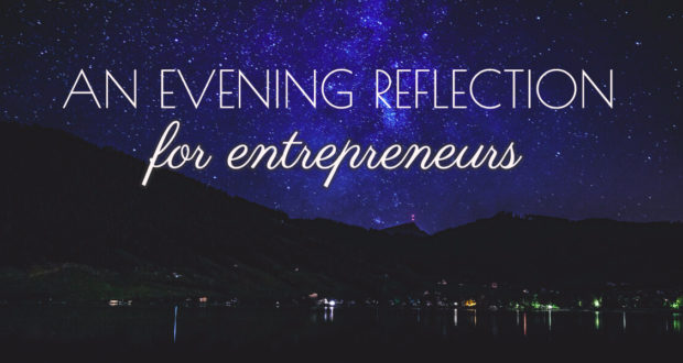 Evening Reflection for Business