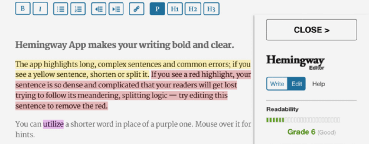 Hemingwayapp Writing Tool