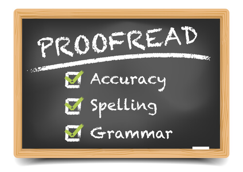proofread your blogs
