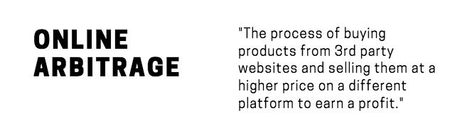 Online Arbitrage Definition