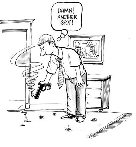 Pistol Rug Cartoon