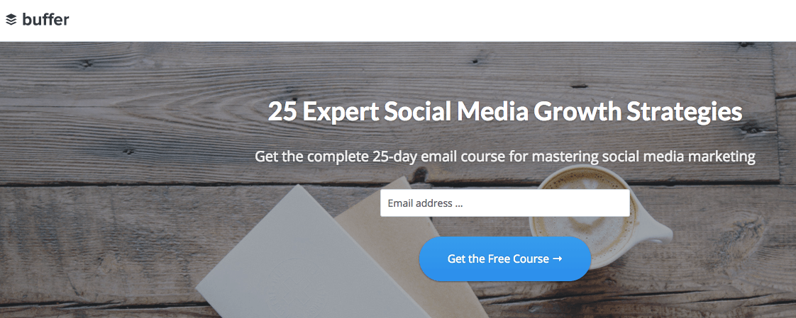 Email course opt-in