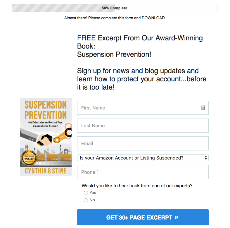 Free chapter opt-in