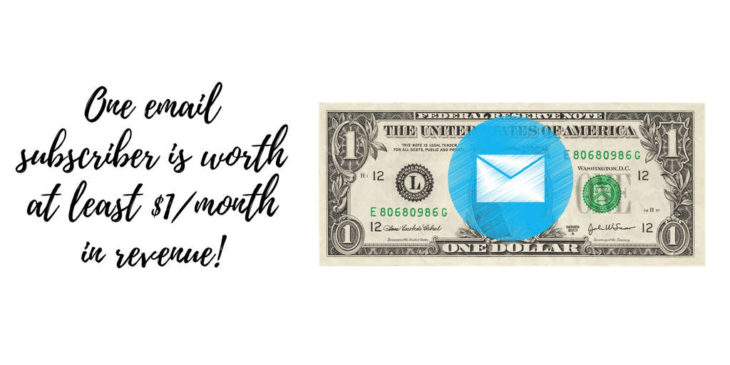 How much is an email worth