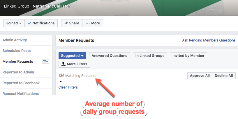 Facebook Group Requests