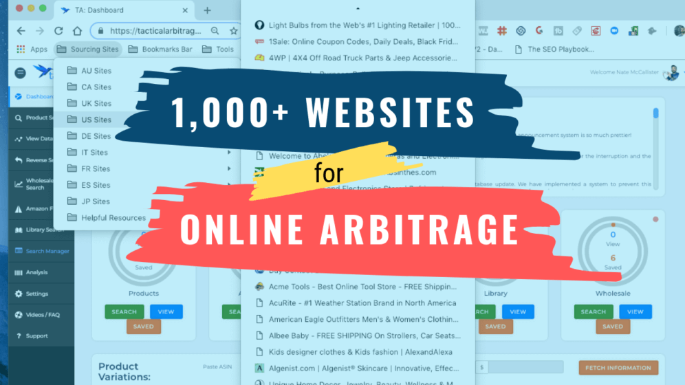1000 Websites For Online Arbitrage Product Sourcing On Amazon