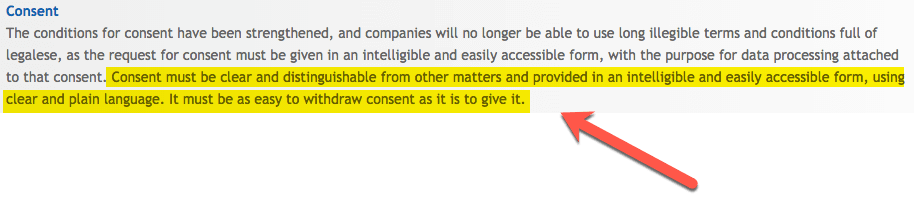 Consent in GDPR