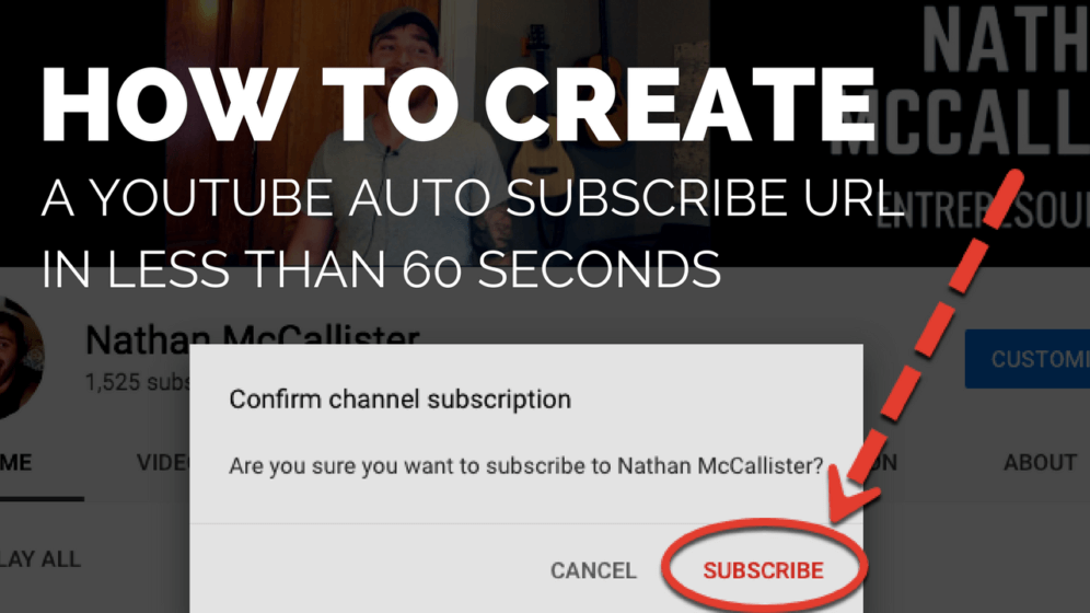 how to create a youtube auto subscribe link entreresource com