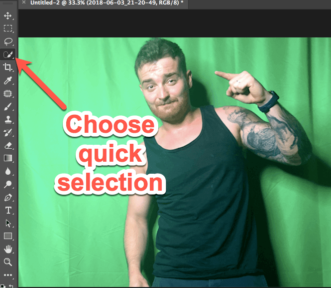 photoshop quick selector tool