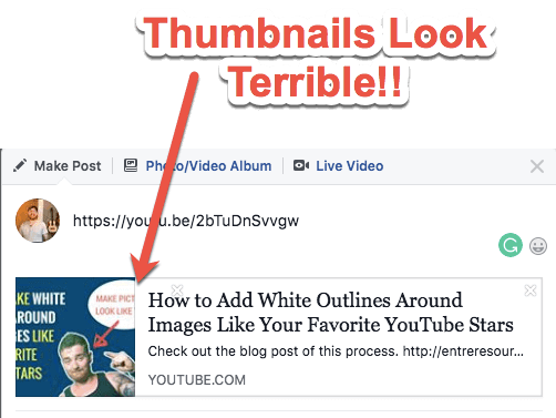 Fix YouTube on Facebook