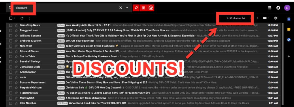 Email Discounts