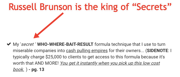 Russell Brunson Secrets