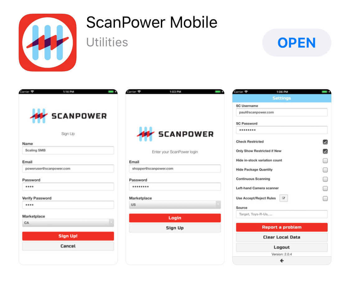 ScanPower Seller App