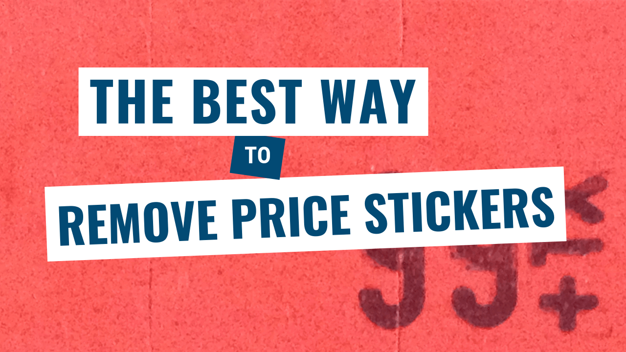 Remove price stickers