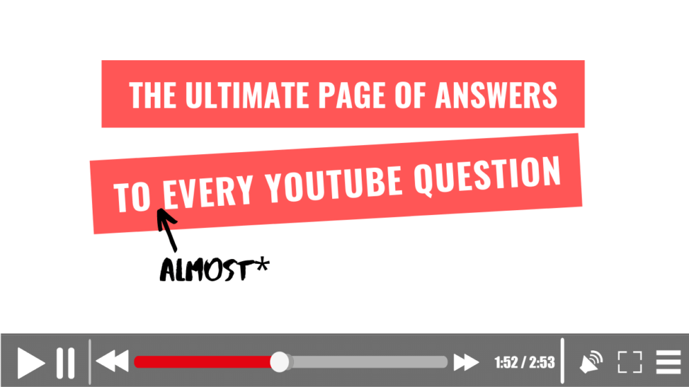 YouTube Questions