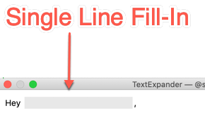 Text Expander FIll In