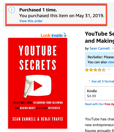 YouTube Secrets on Amazon