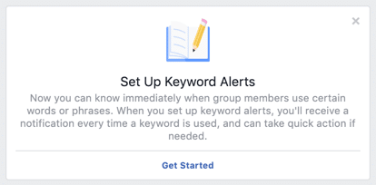 Facebook keyword alerts