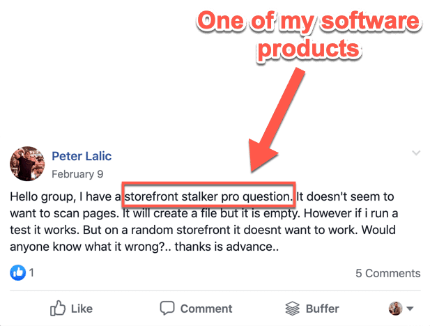 Facebook Alerts Keyword
