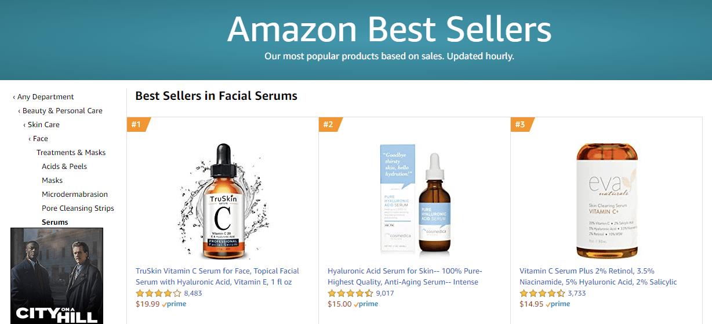 Amazon bestseller page