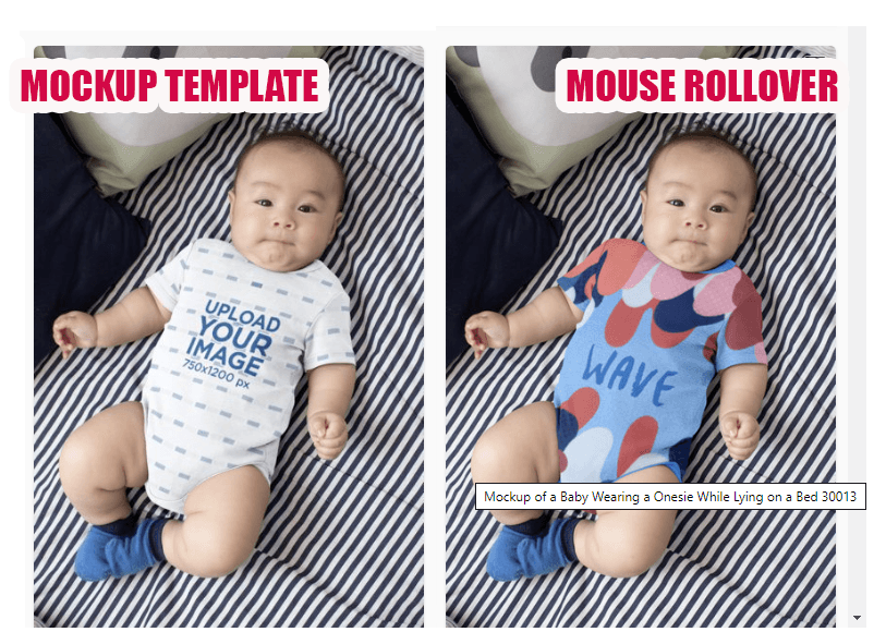 Placeit baby onesie mockup