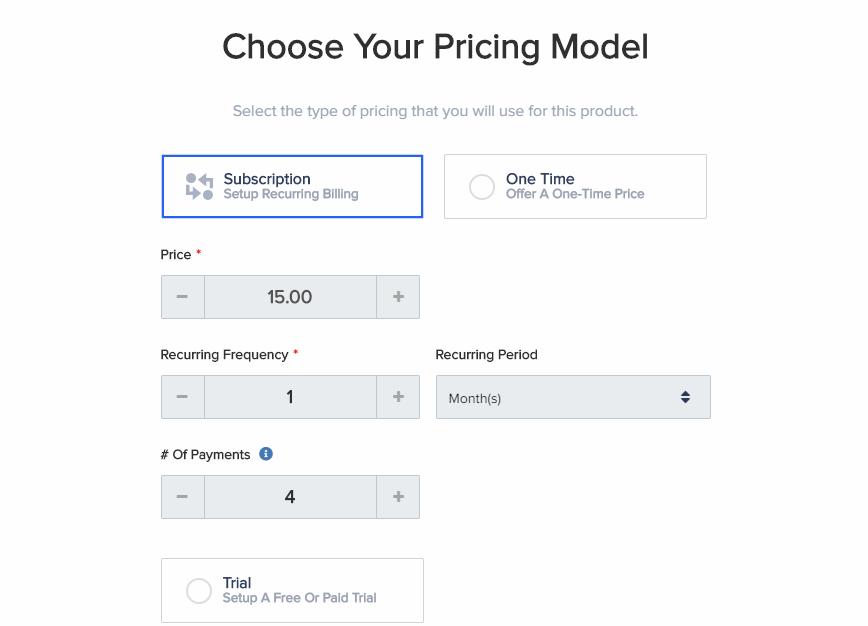 PayKickStart pricing models