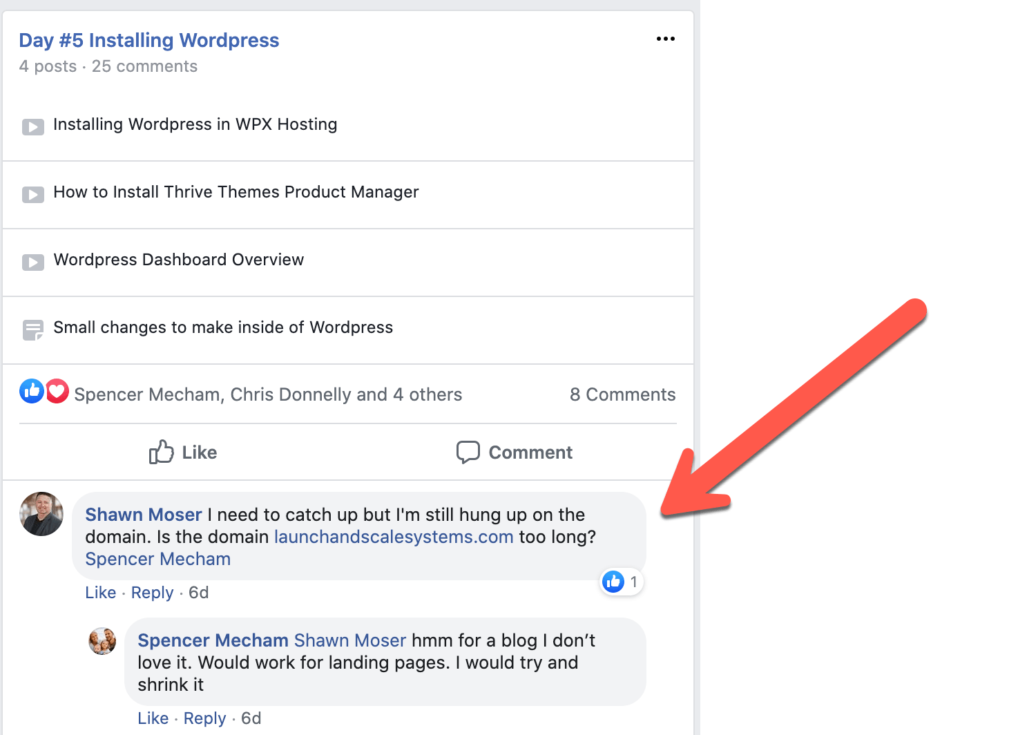 Member Questions in Facebook Groups