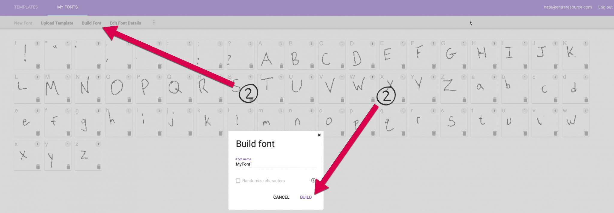 Build Font