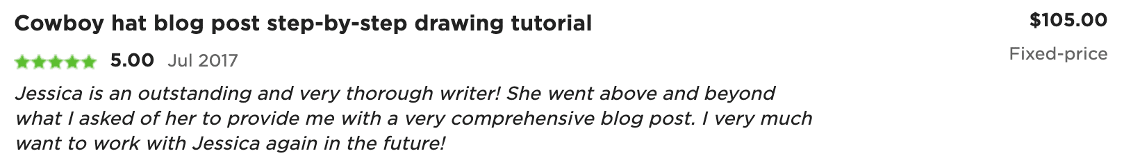 Writer Reviews on Upwork