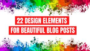 Design Elements for Beautiful Blogs