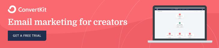ConvertKit Banner