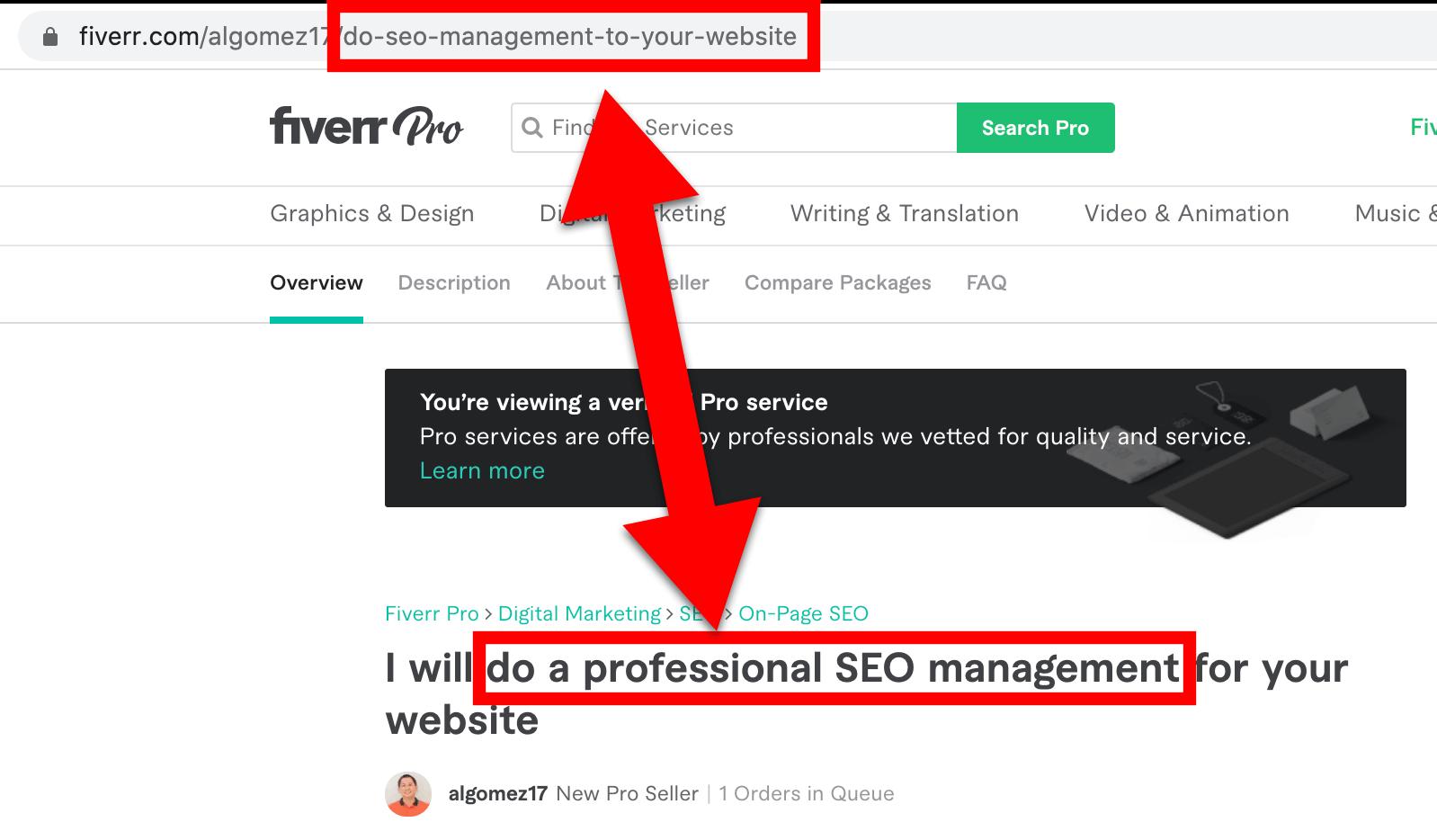 Fiverr Gig URL