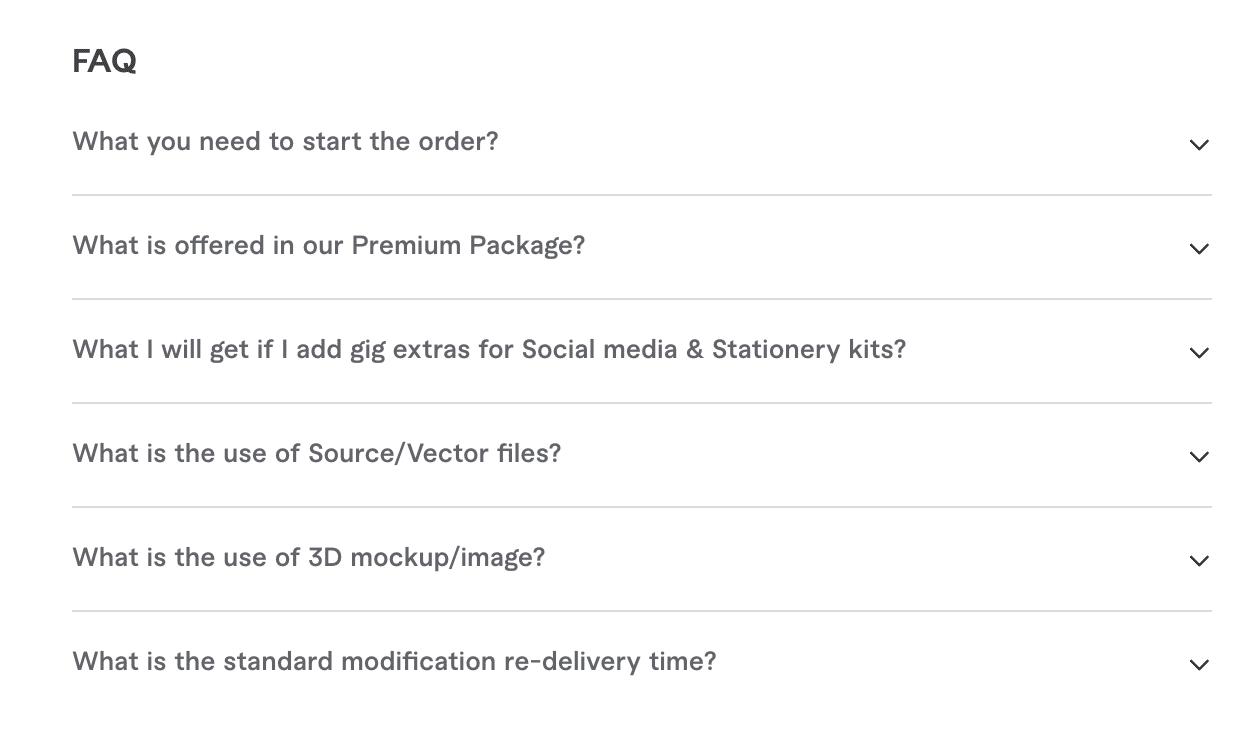 Fiverr Gig FAQ