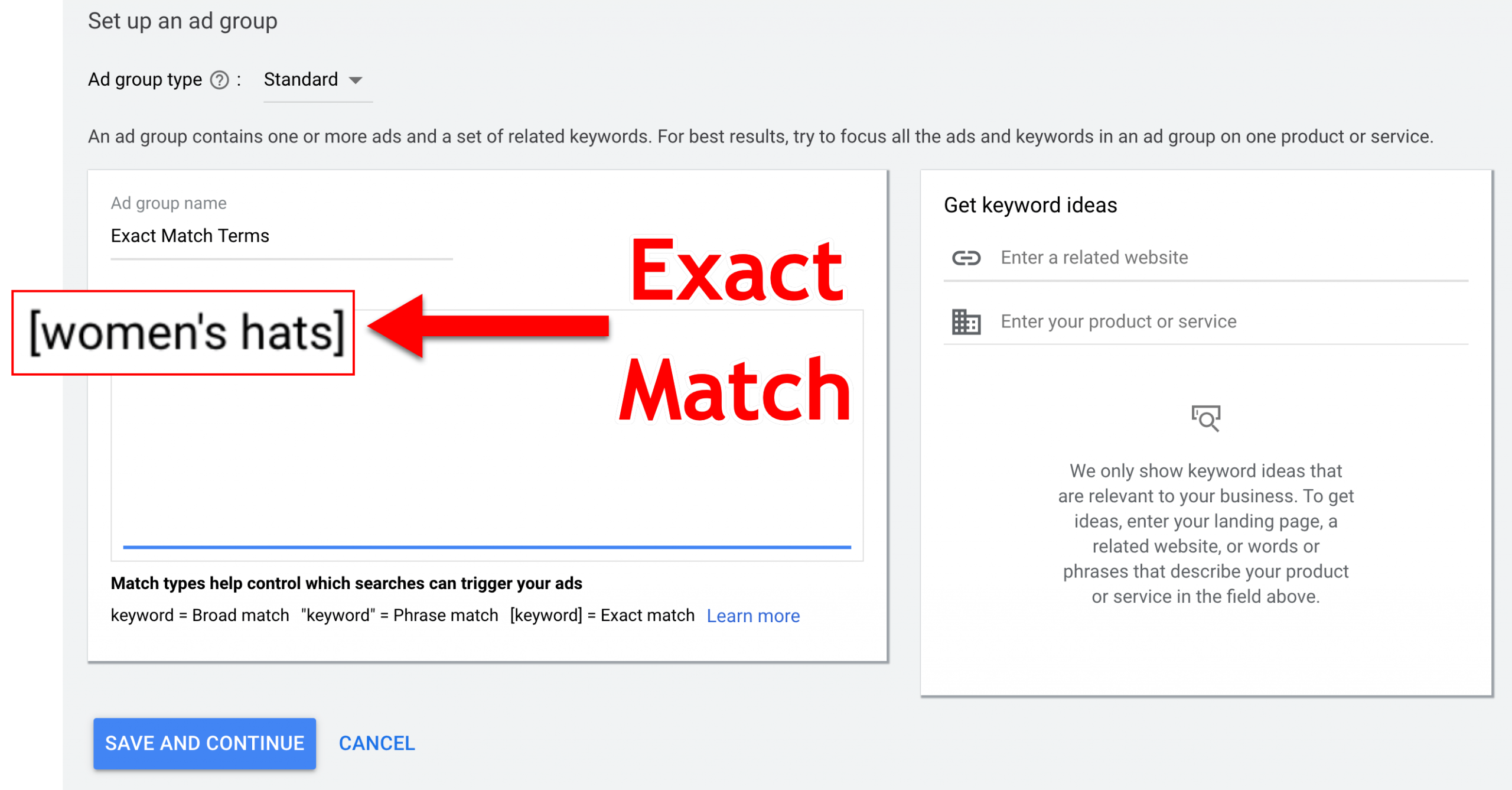 Exact Match Search Example