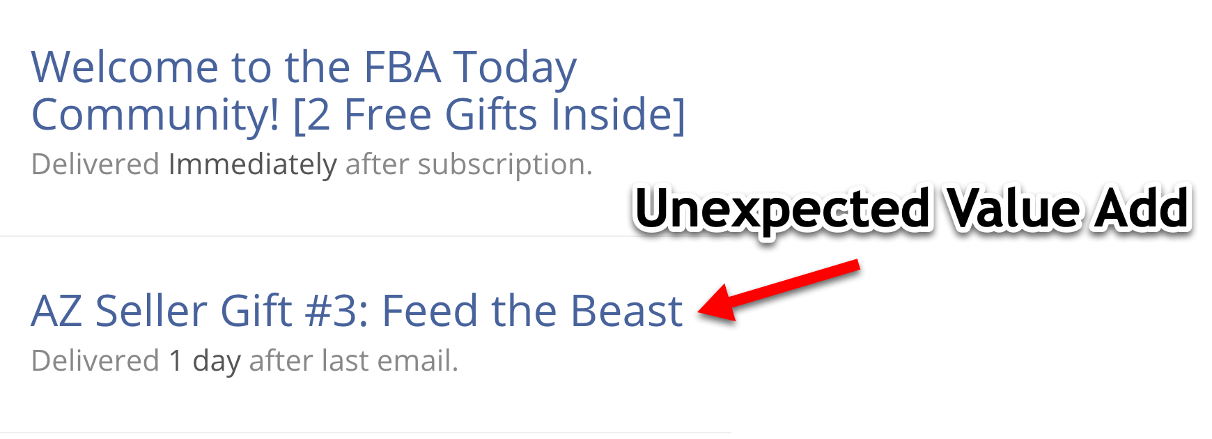 Email Gift Follow Up