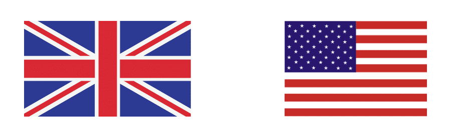 English Language Flags