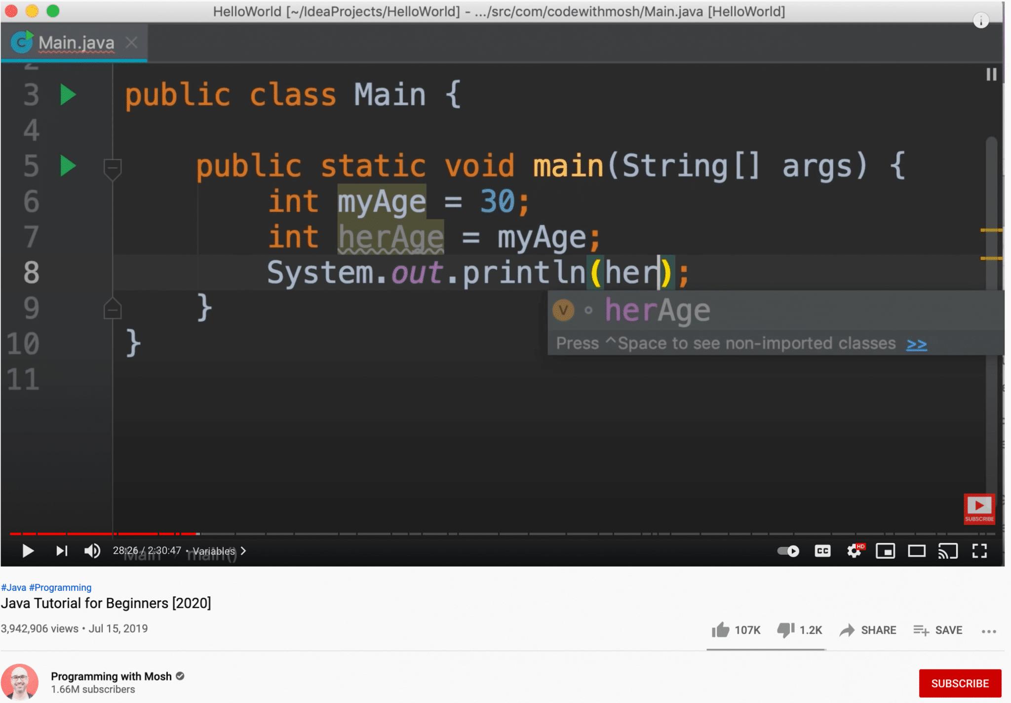 On screen youtube tutorials