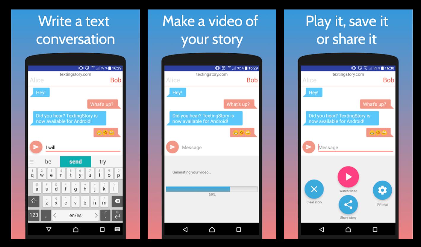 Texting Story App