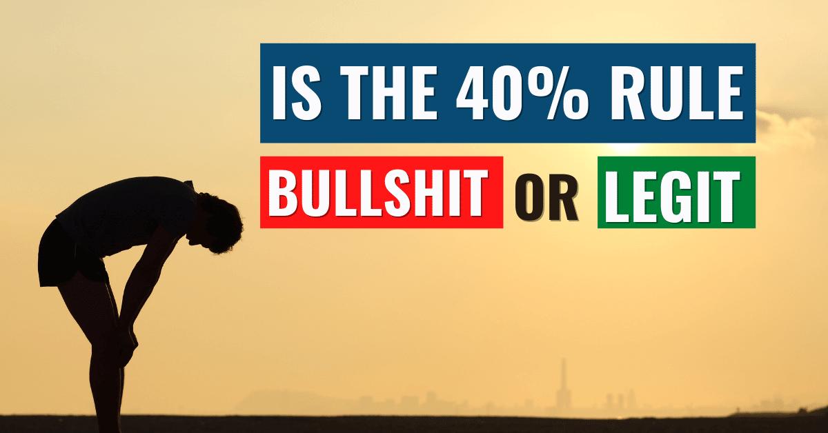 Navy Seal 40% Rule