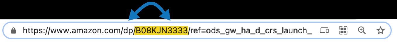 Find Amazon ASIN in URL