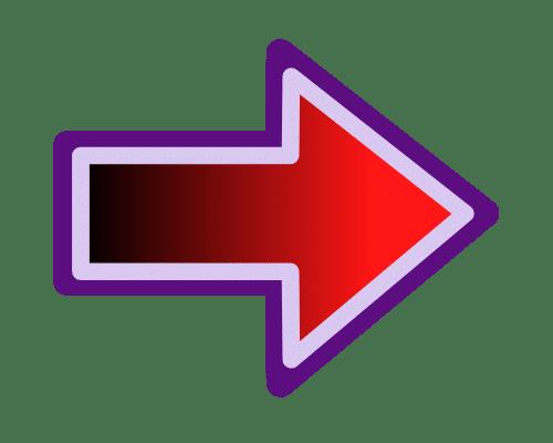 free arrow icon transparent gradient vibe