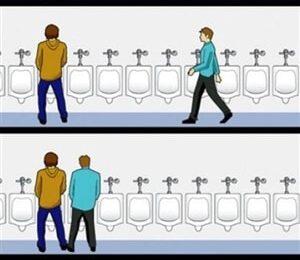 No Privacy Urinal Meme