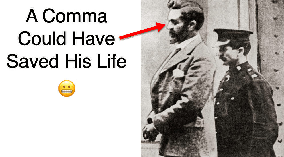 Comma almost saved his life