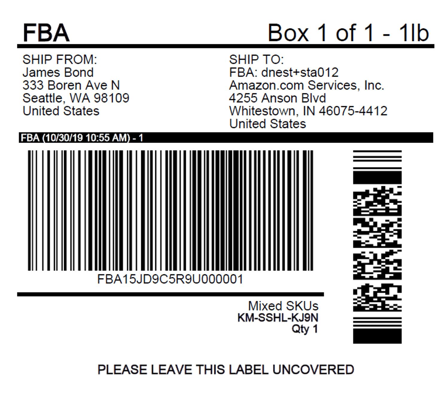 Inward inbound Amazon FBA Label Tutorial