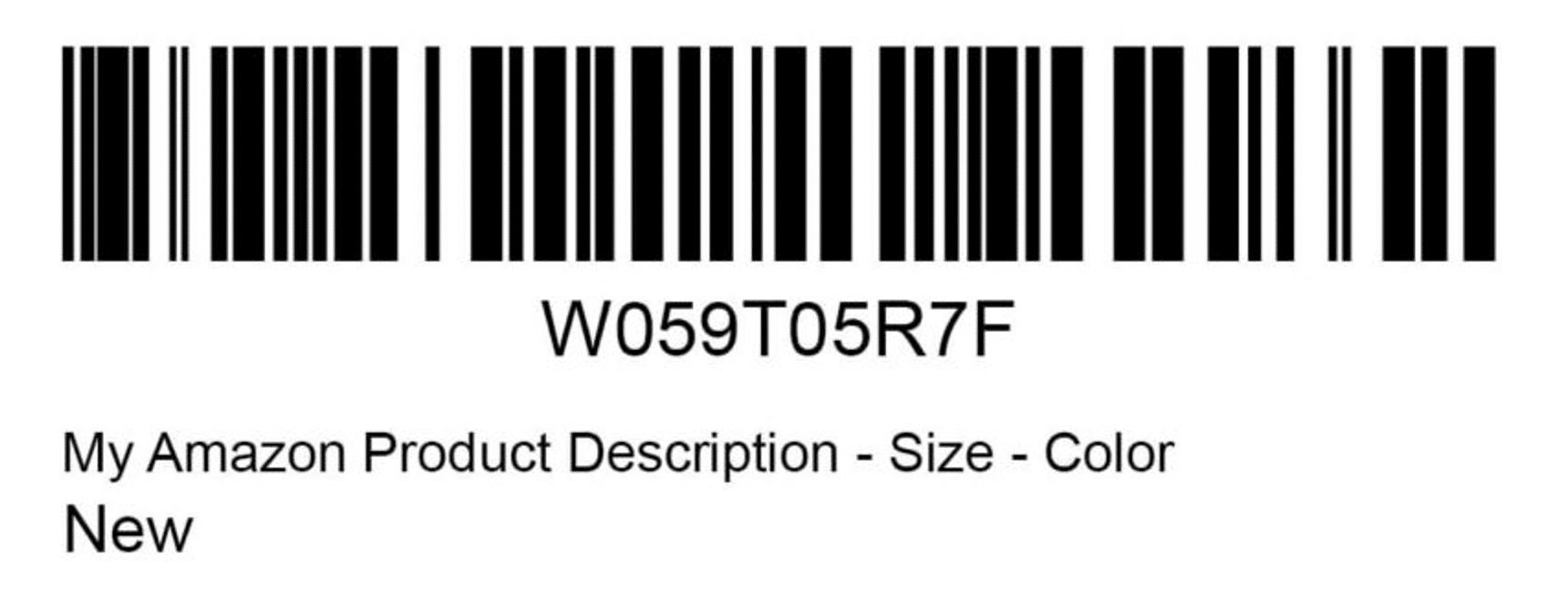 Amazon FBA Label demo