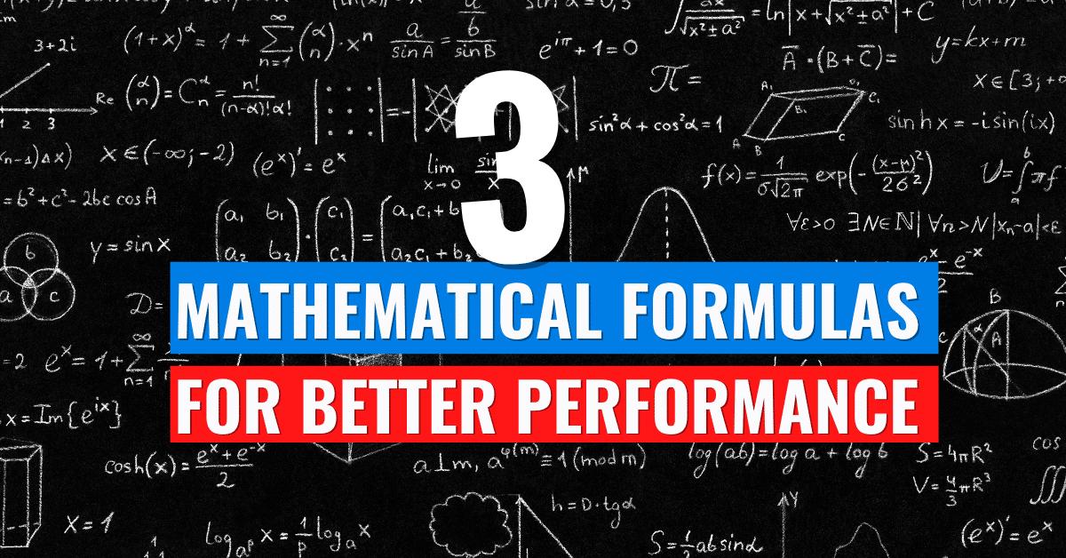 Formulas for improvement in life