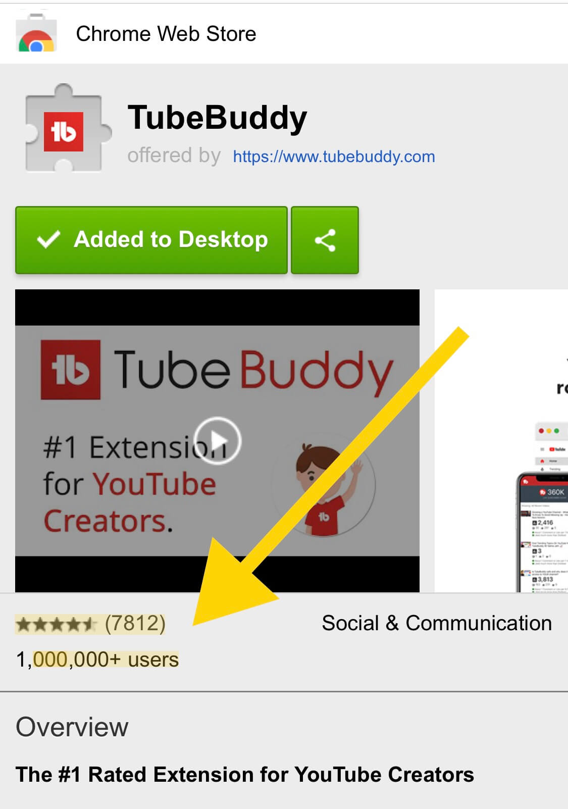 TubeBuddy Total Users