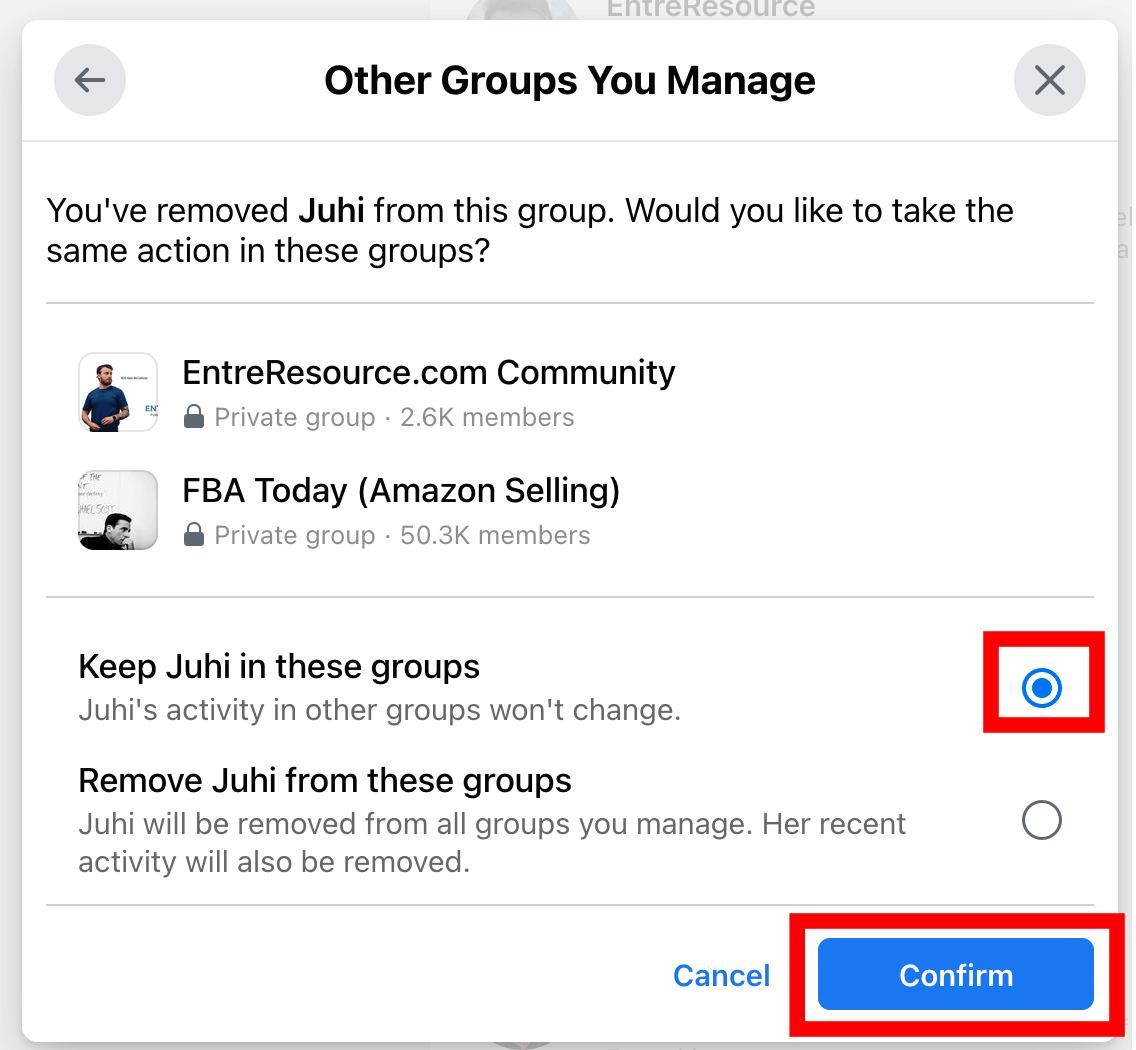 Keep facebook group members in other groups you manage