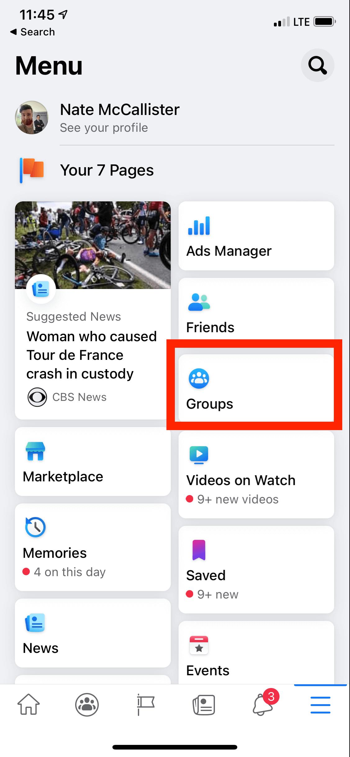 FB Group mobile